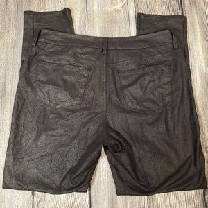 NYDJ Pants - NYDJ black embossed legging size 10